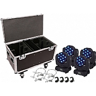 4 Adet 36x3 Led Beam Movinghead Case Asma Aparatlar� Dahil Disco I��k